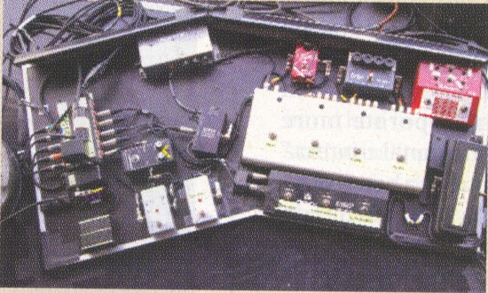 Satriani old pedalboard from tour